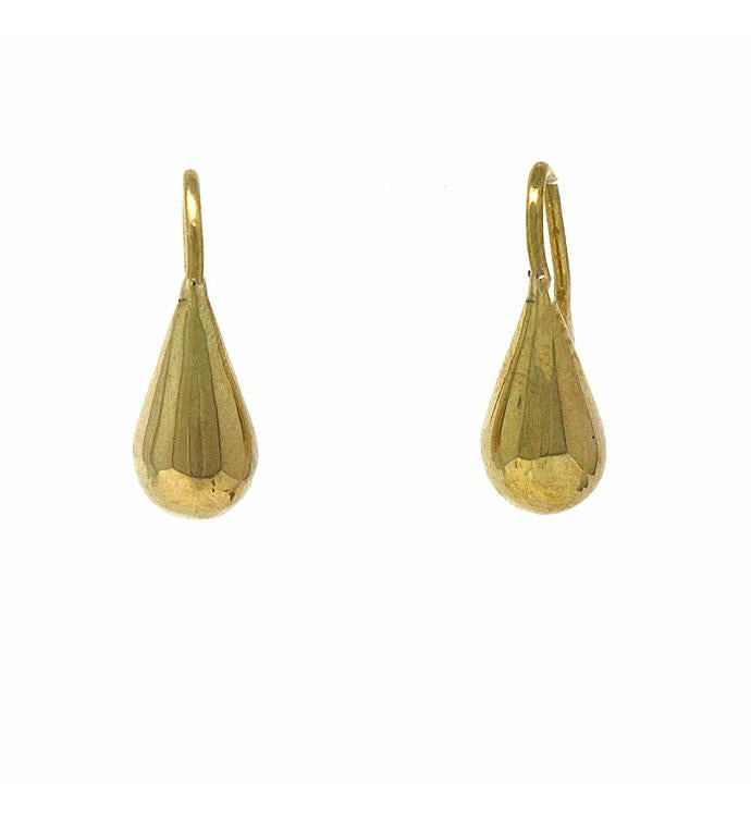 Handmade Brass Raindrop Earrings