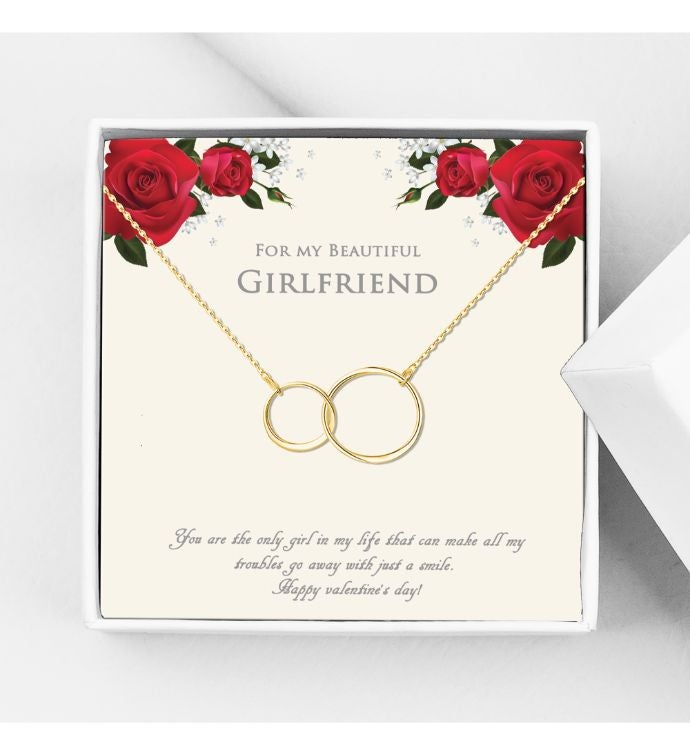 For My Beautiful Girlfriend Ring Infinity Valentine39s Day Necklace