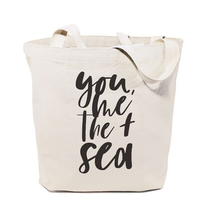 Beach Themed Reusable Shoulder Tote