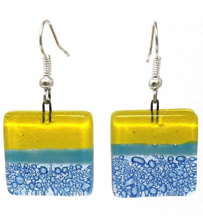 Handmade Chilean Glass Earrings