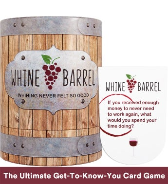 Whine Barrel  Conversation Card Game