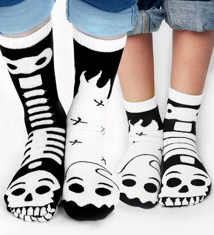 Ghost  Skeleton Pals  Adult  Kid Socks