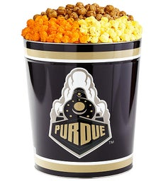 3 Gallon Purdue University 3-Flavor Popcorn Tins