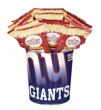 New York Giants 3-Flavor Popcorn Tins