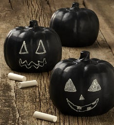 Set of Three Chalkboard Pumpkins