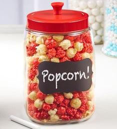 Popcorn Crock with Chalkboard