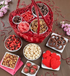Deluxe Valentine's Day Heart Basket