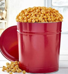 3-1/2 Gallon Simply Red Pick-A-Flavor Popcorn Tins