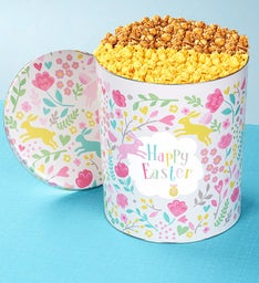 6-1/2 Gallon Happy Easter Pick A Flavor Popcorn Tins
