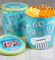 Go Greek Popcorn Tin
