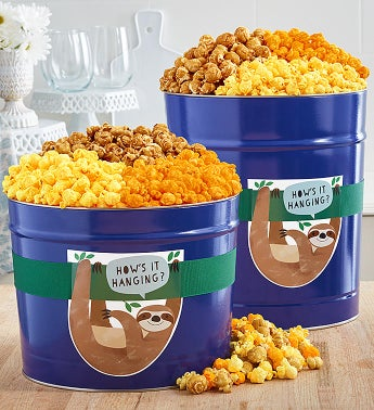 Hows It Hanging Popcorn Tins
