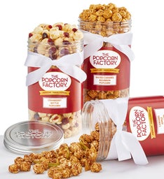 3 Canister Pack of Fall Special Edition Popcorn Flavors