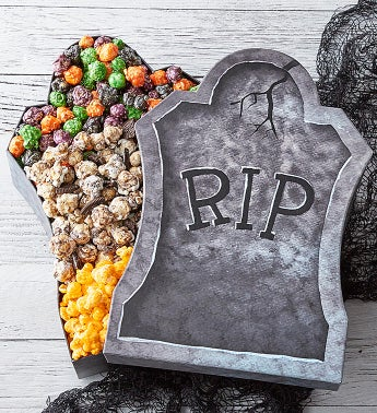 RIP Rest In Popcorn Tombstone Popcorn Sampler