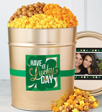 Have a Lucky Day 3 1/2 Gallon Popcorn Tin